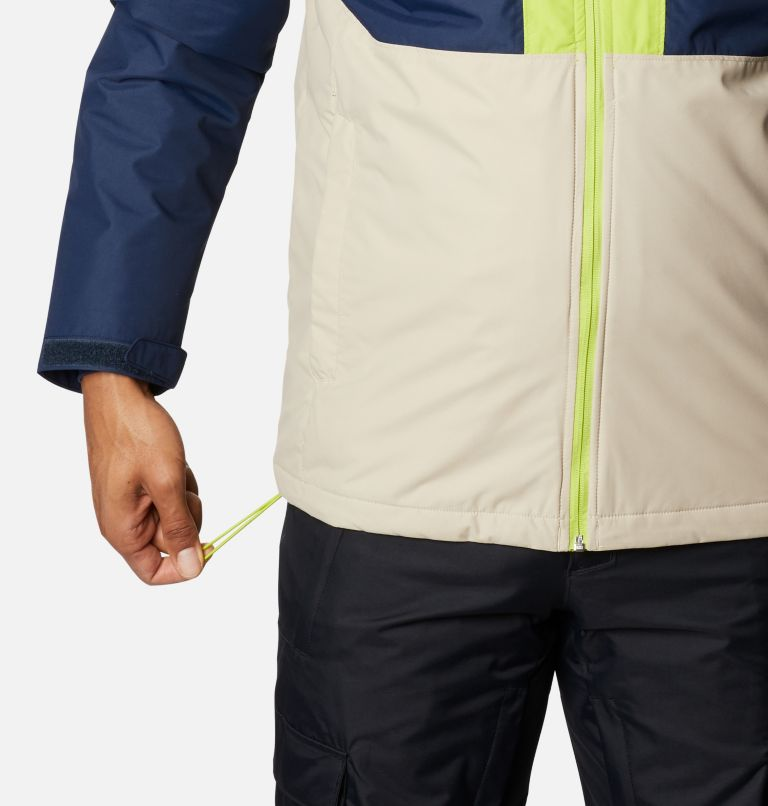 Timberturner™ Jacket | 271 | XL Men's Timberturner™ Insulated Jacket, Ancient Fossil, Coll Navy, Brt Chrtrse, a6