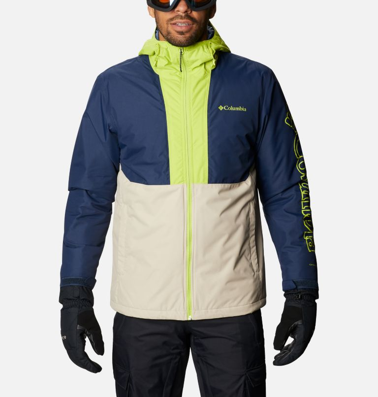 Timberturner™ Jacket | 271 | XL Men's Timberturner™ Insulated Jacket, Ancient Fossil, Coll Navy, Brt Chrtrse, front