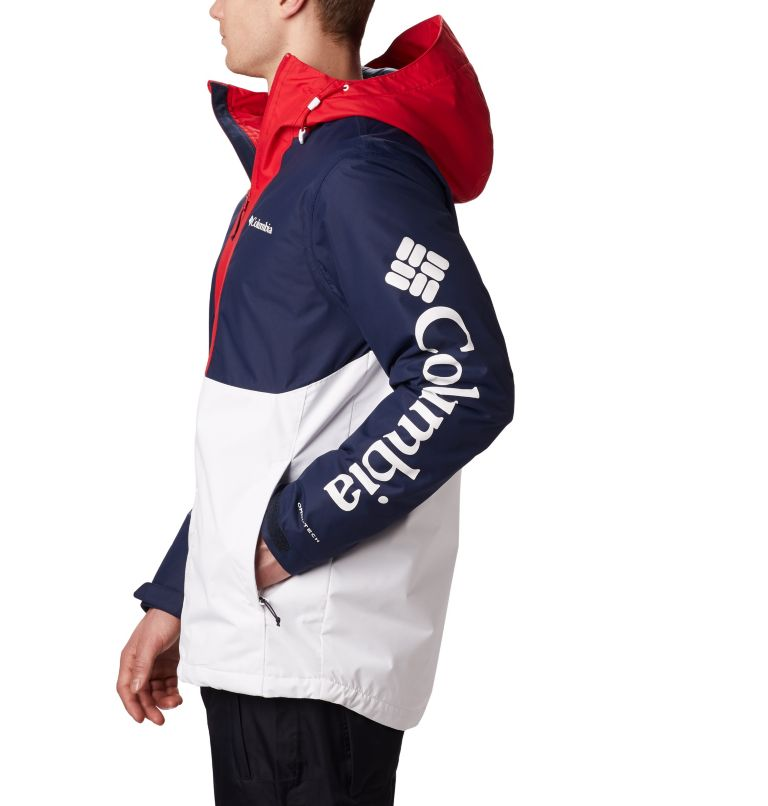 Timberturner™ Jacket | 100 | M Veste de Ski Timberturner Homme, White, Collegiate Navy, a2