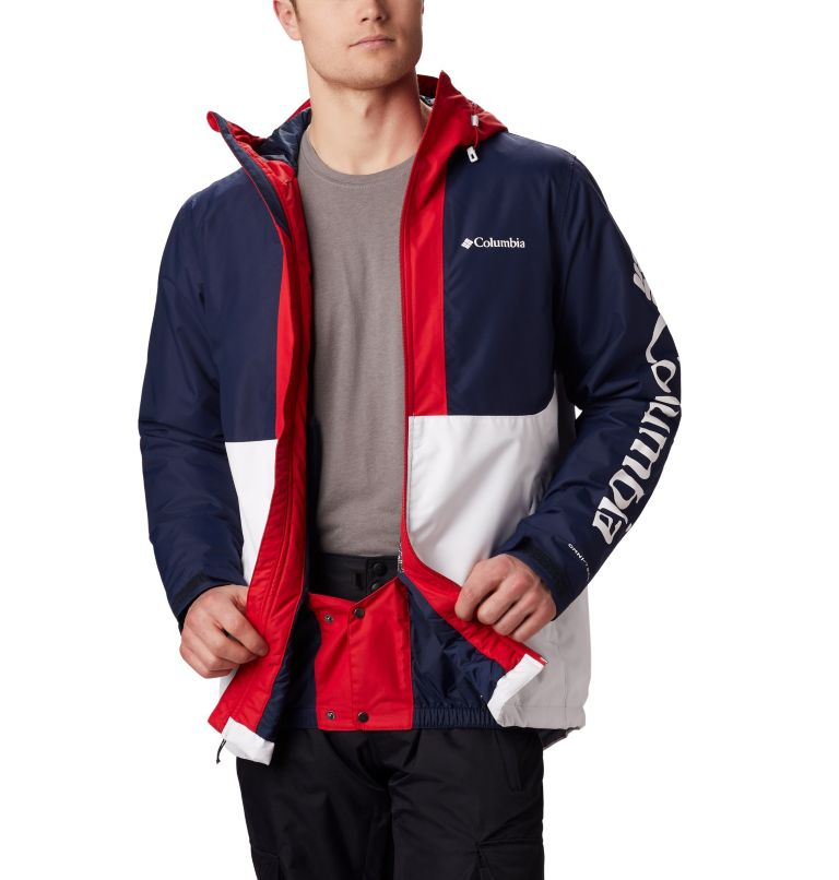 Timberturner™ Jacket | 100 | M Veste de Ski Timberturner Homme, White, Collegiate Navy, a4