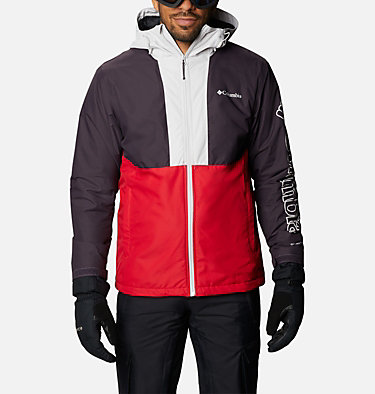 Veste de Ski Timberturner Homme Timberturner™ Jacket | 013 | S, Mountain Red, Dark Purple, Nimbus Grey, front