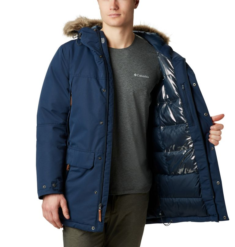 South Canyon™ Long Down Parka | 464 | 4X Men's South Canyon™ Long Down Parka - Big, Collegiate Navy, a2