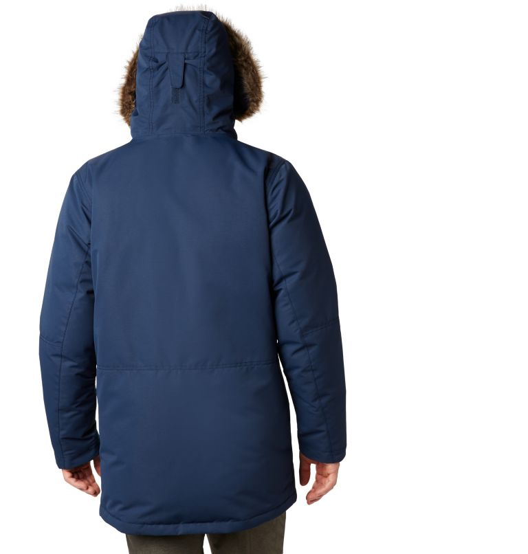 South Canyon™ Long Down Parka | 464 | 4X Men's South Canyon™ Long Down Parka - Big, Collegiate Navy, back