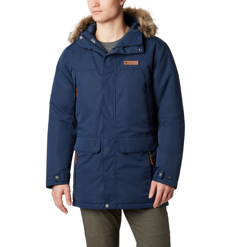 South Canyon™ Long Down Parka | 464 | 4X Men's South Canyon™ Long Down Parka - Big, Collegiate Navy, front