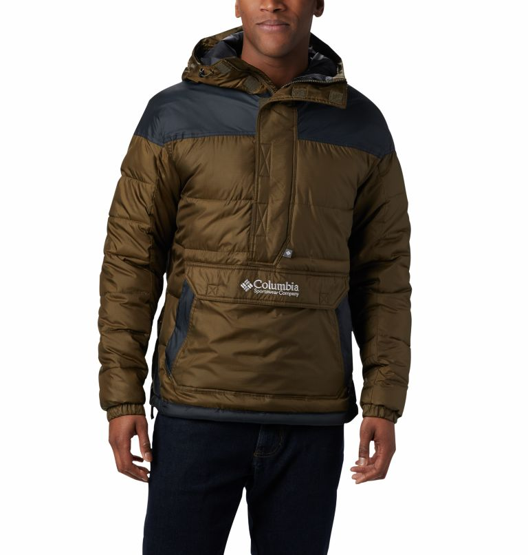 Columbia Lodge™ Pullover Jacke | 319 | L Veste À Enfiler Columbia Lodge Homme, Olive Green, Black, front