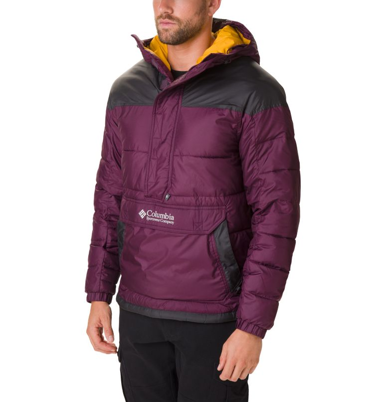 Columbia Lodge™ Pullover Jacke | 522 | XXL Men's Columbia Lodge Pullover Jacket, Black Cherry, Shark, front