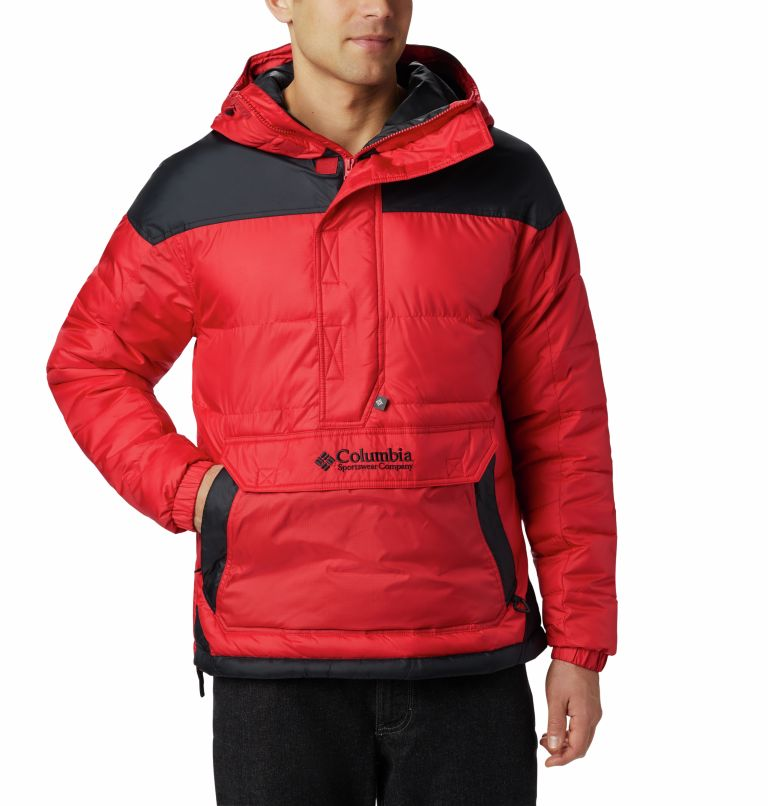 Columbia Lodge™ Pullover Jacke | 613 | XL Veste À Enfiler Columbia Lodge Homme, Mountain Red, Black, front