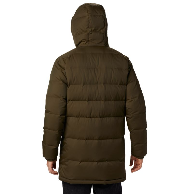 Macleay™ Down Long Jacket | 319 | XL Men's Macleay™ Down Long Jacket, Olive Green, back