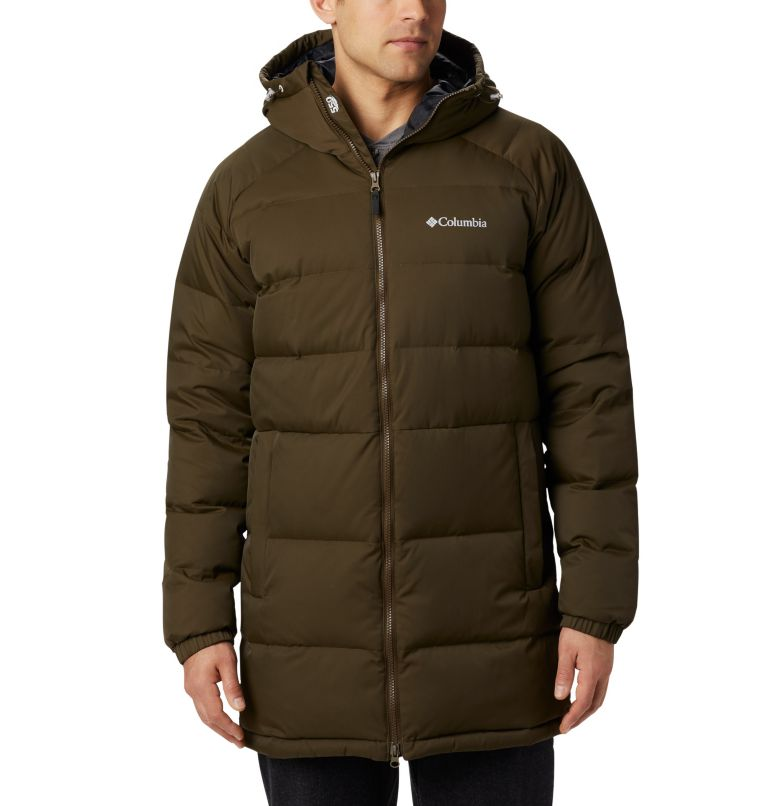 Macleay™ Down Long Jacket | 319 | XL Men's Macleay™ Down Long Jacket, Olive Green, front