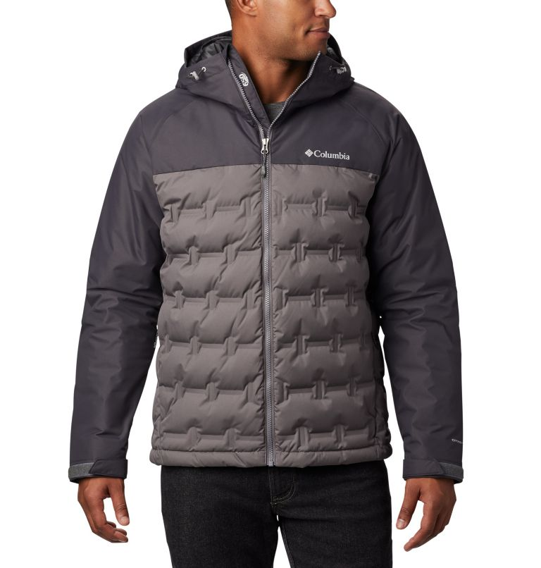 Grand Trek™ Down Jacket | 023 | S Men's Grand Trek™ Down Jacket, City Grey, Shark, front