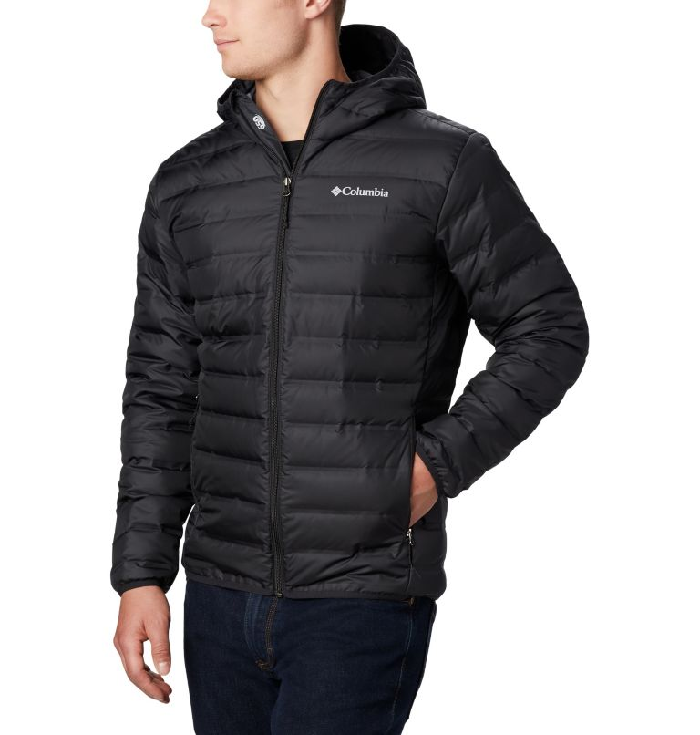 Lake 22™ Down Hooded Jacket | 010 | XL Men's Lake 22 Down Hooded Jacket, Black, a1