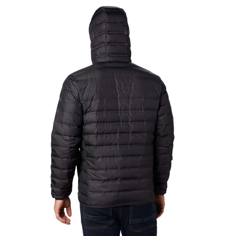 Lake 22™ Down Hooded Jacket | 010 | S Men's Lake 22 Down Hooded Jacket, Black, back