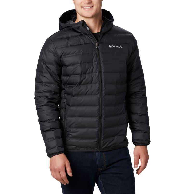 Lake 22™ Down Hooded Jacket | 010 | XL Men's Lake 22 Down Hooded Jacket, Black, front