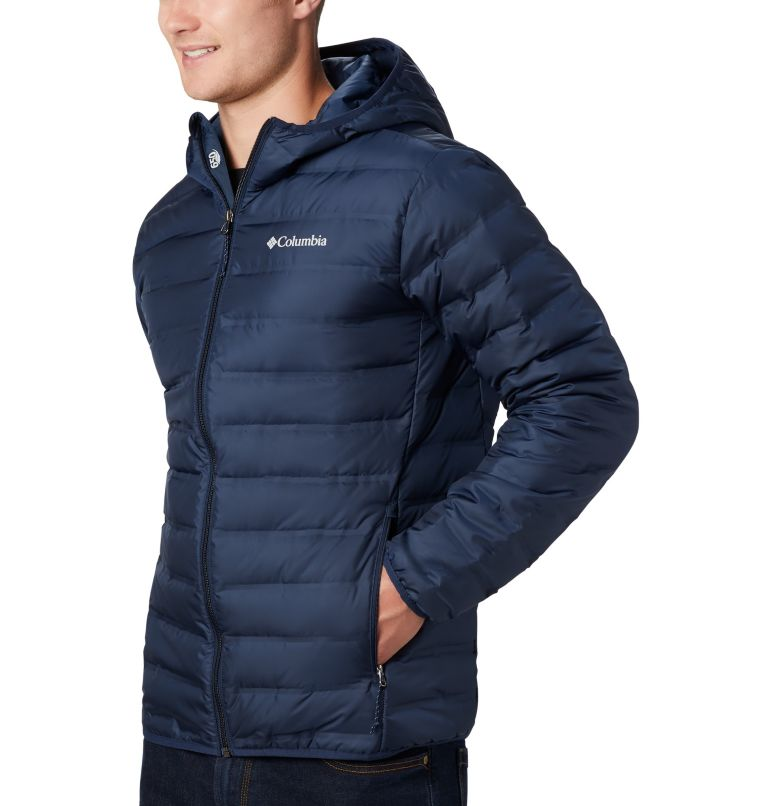 Lake 22™ Down Hooded Jacket | 464 | S Men's Lake 22 Down Hooded Jacket, Collegiate Navy, a2