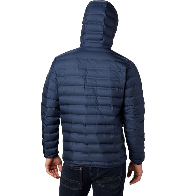 Lake 22™ Down Hooded Jacket | 464 | S Men's Lake 22 Down Hooded Jacket, Collegiate Navy, back