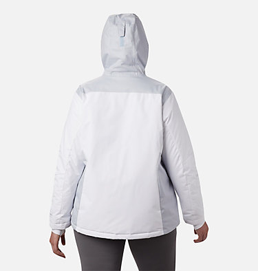 Women's Tipton Peak™ Insulated Jacket - Plus Size Tipton Peak™ Insulated Jacket   671   1X, White, Cirrus Grey, back