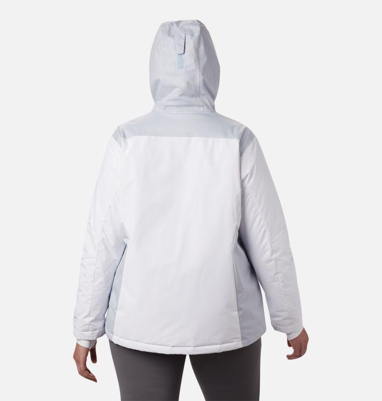Tipton Peak™ Insulated Jacket | 100 | 1X Women's Tipton Peak™ Insulated Jacket - Plus Size, White, Cirrus Grey, back