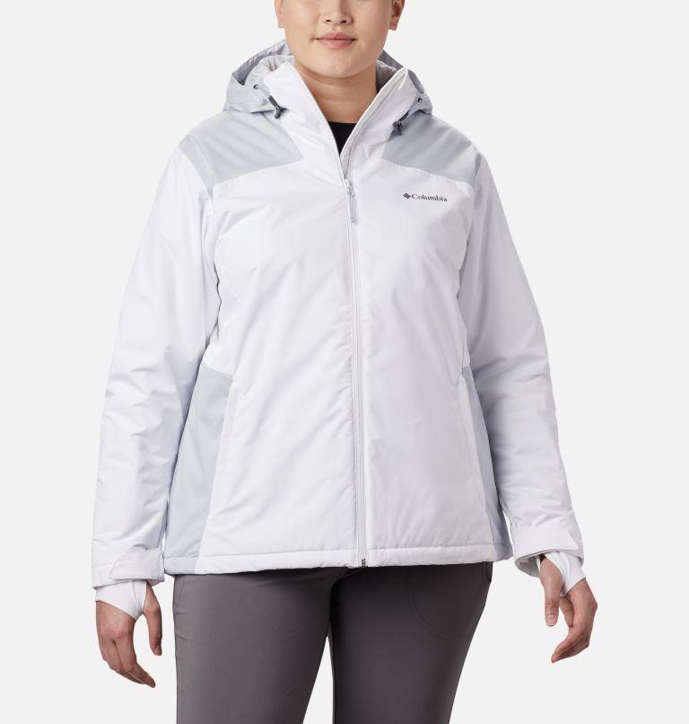 Tipton Peak™ Insulated Jacket | 100 | 1X Women's Tipton Peak™ Insulated Jacket - Plus Size, White, Cirrus Grey, front