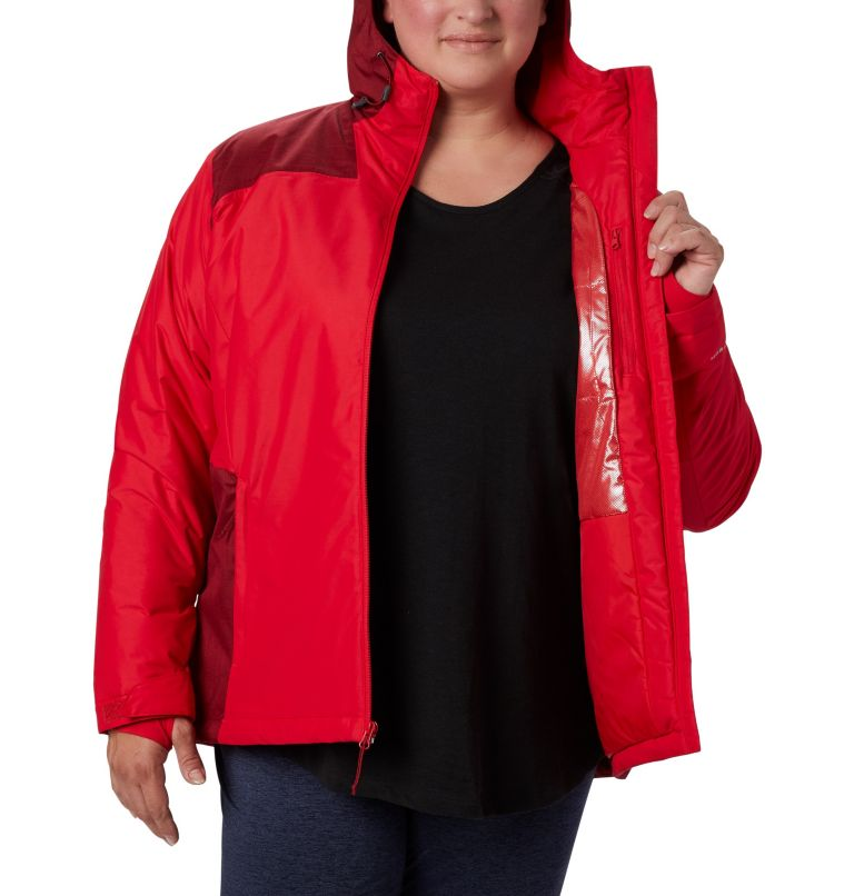 Tipton Peak™ Insulated Jacket | 658 | 3X Women's Tipton Peak™ Insulated Jacket - Plus Size, Red Lily, Beet, a3