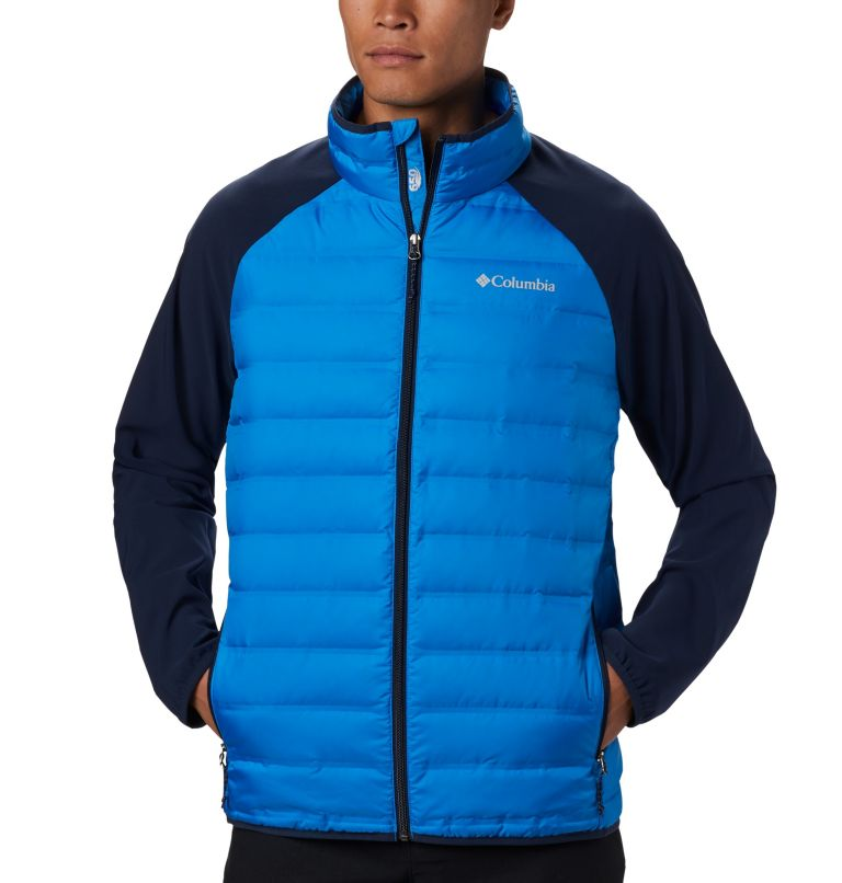 Lake 22™ Hybrid Down Jacket | 463 | M Men's Lake 22 Hybrid Down Jacket, Azure Blue, Collegiate Navy, a2