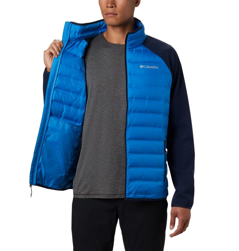 Lake 22™ Hybrid Down Jacket | 463 | M Men's Lake 22 Hybrid Down Jacket, Azure Blue, Collegiate Navy, a3