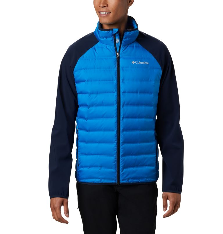 Lake 22™ Hybrid Down Jacket | 463 | M Men's Lake 22 Hybrid Down Jacket, Azure Blue, Collegiate Navy, front
