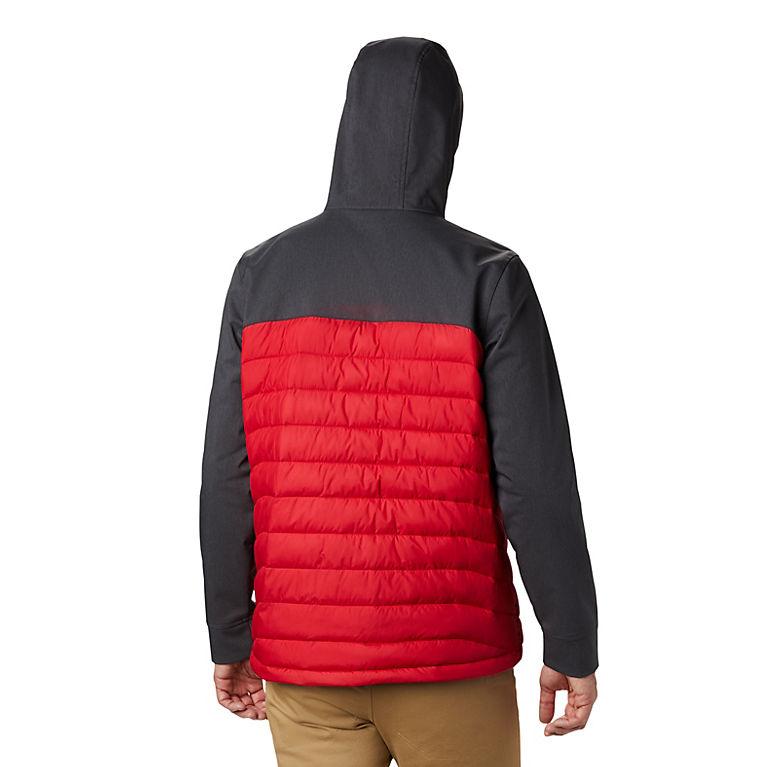 Men/'s Columbia Powder Lite Hybrid Hooded Jacket Omni-Heat Black XL