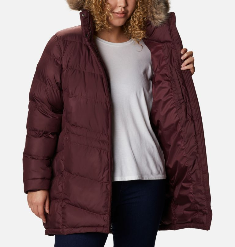 Peak to Park™ Mid Insulated Jacket | 671 | 1X Women's Peak to Park™ Mid Insulated Jacket - Plus Size, Malbec, a3