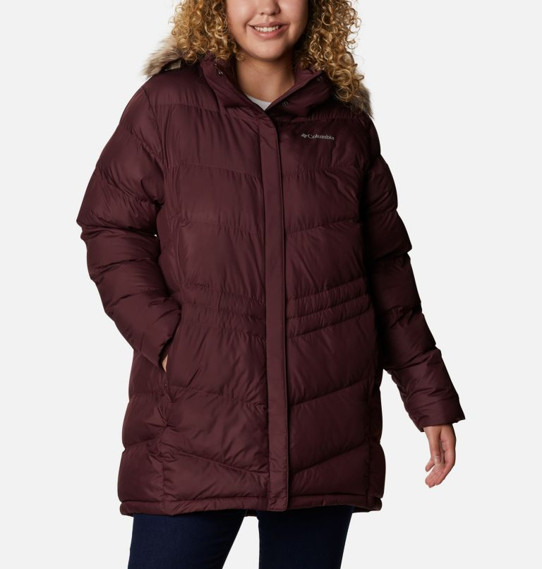 Peak to Park™ Mid Insulated Jacket | 671 | 1X Women's Peak to Park™ Mid Insulated Jacket - Plus Size, Malbec, front