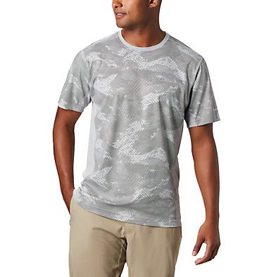 Men's Solar Chill™ 2.0 Short Sleeve Solar Chill™ 2.0 Short Sleeve | 160 | L, Columbia Grey Mesh Print, front
