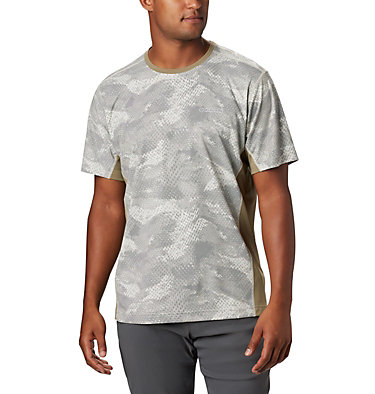 Men's Solar Chill™ 2.0 Short Sleeve Solar Chill™ 2.0 Short Sleeve | 160 | L, Fossil Mesh Print, front