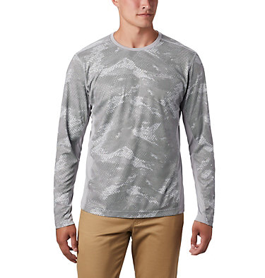 Men's Solar Chill™ 2.0 Long Sleeve Solar Chill™ 2.0 Long Sleeve | 845 | XL, Columbia Grey Mesh Print, front