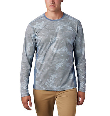 Men's Solar Chill™ 2.0 Long Sleeve Shirt Solar Chill™ 2.0 Long Sleeve | 845 | L, Mountain Mesh Print, front