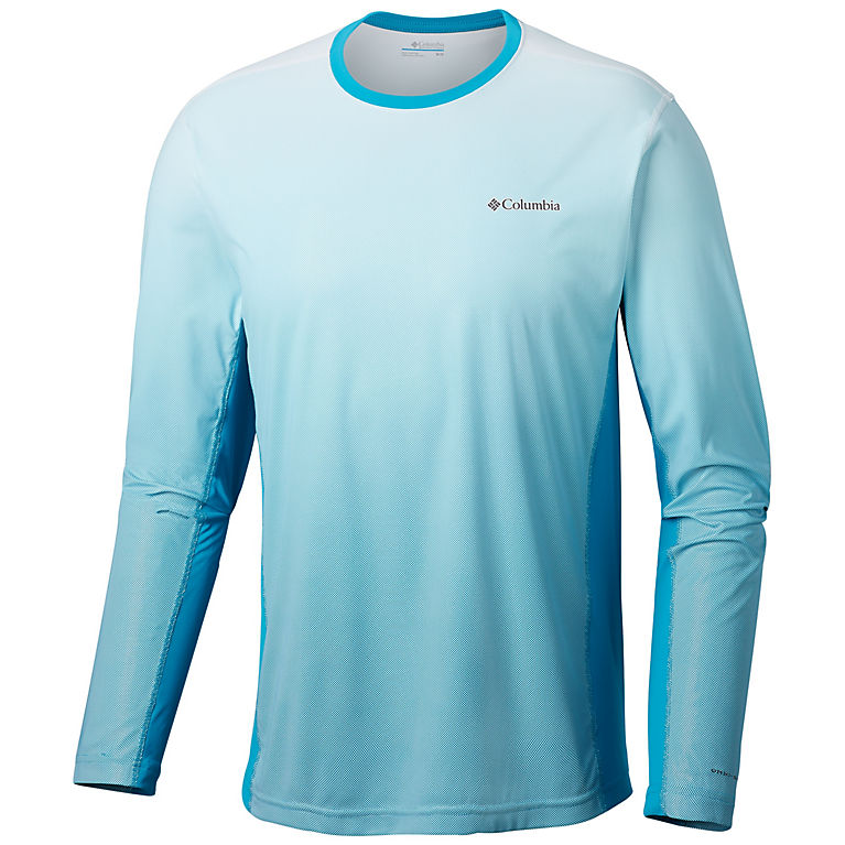 Columbia Men's Solar Chill 2.0 Long Sleeve Shirt with UV Sun Protection, Moisture Wicking Fabric (Multiple Colors)