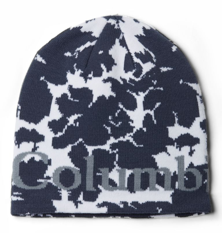 Columbia Lodge™ Logo Beanie | 466 | O/S Berretto Columbia Lodge™ Logo unisex, Nocturnal, Leaves Pattern, front