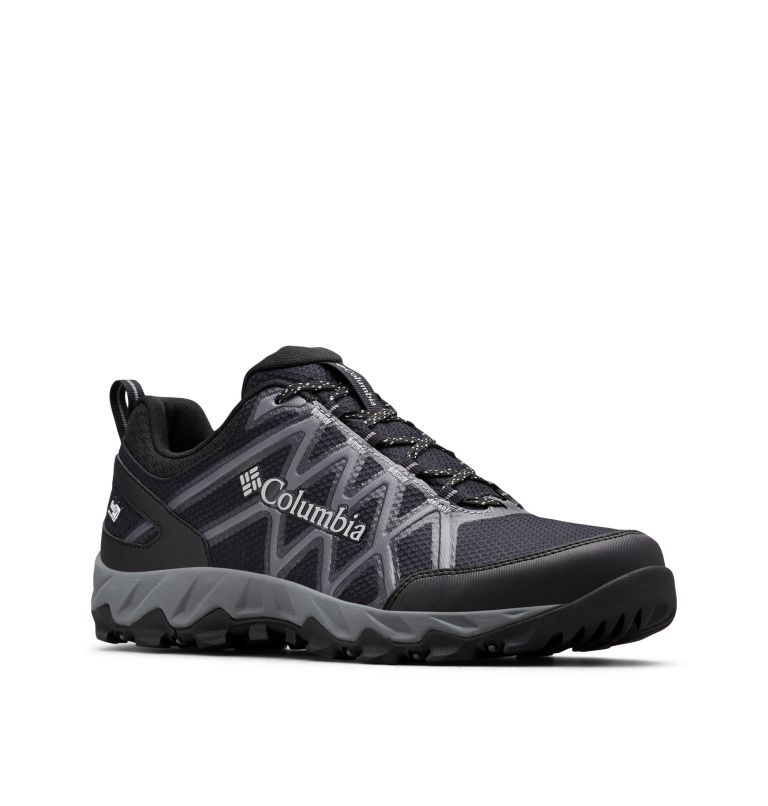 PEAKFREAK™ X2 OUTDRY™ | 010 | 14 Men's Peakfreak™ X2 OutDry™ Shoe, Black, Ti Grey Steel, 3/4 front