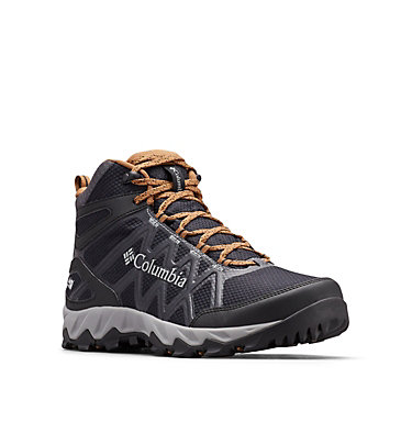 Men's Peakfreak™ X2 Mid OutDry™ Hiking Boot PEAKFREAK™ X2 MID OUTDRY™ | 012 | 7, Black, Elk, 3/4 front