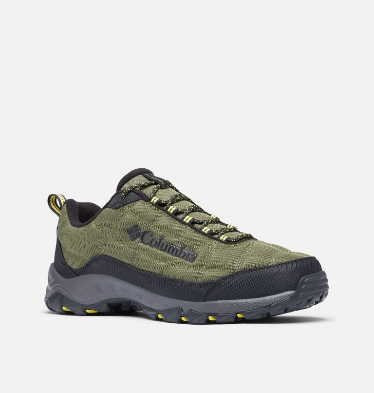 FIRECAMP™ FLEECE III | 371 | 9 Men's Firecamp™ Fleece Lined Shoe, Hiker Green, Mineral Yellow, 3/4 front