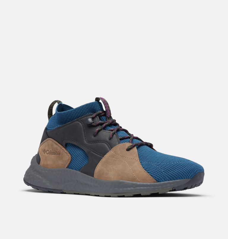 SH/FT™ OUTDRY™ MID | 403 | 12 Men's SH/FT™ OutDry™ Mid Shoe, Petrol Blue, Wild Iris, 3/4 front