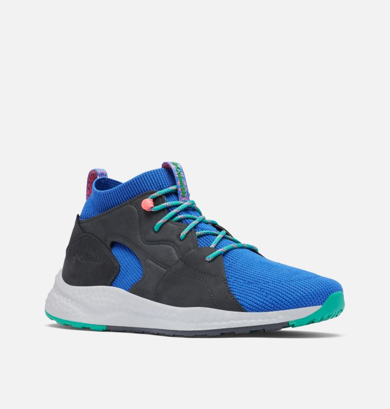 SH/FT™ OUTDRY™ MID | 410 | 10 Men's SH/FT™ OutDry™ Mid Shoe, Lapis Blue, Emerald Green, 3/4 front