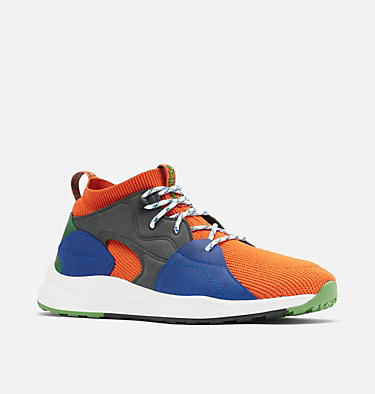 Men's SH/FT™ OutDry™ Mid Shoe SH/FT™ OUTDRY™ MID | 049 | 7, Tangy Orange, Clean Green, 3/4 front