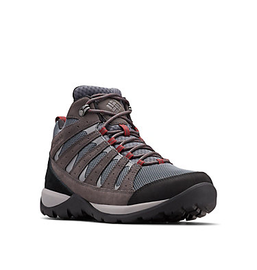 Men's Redmond™ V2 Mid Waterproof Hiking Boot - Wide REDMOND™ V2 MID WP WIDE | 231 | 10, Graphite, Red Jasper, 3/4 front