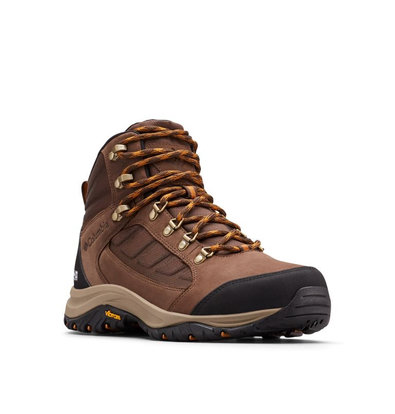 100MW™ MID OUTDRY™ | 256 | 10 Chaussures De Randonnée Mi-Montantes 100MW™ OutDry™ Homme, Tobacco, Canyon Gold, 3/4 front