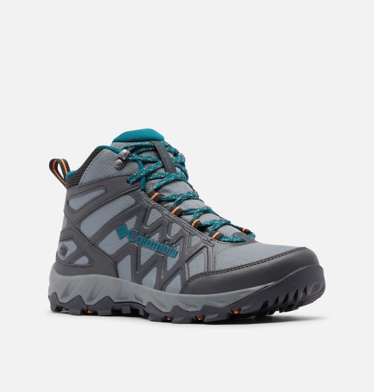 PEAKFREAK™ X2 MID OUTDRY™ | 033 | 10.5 Women's Peakfreak™ X2 Mid OutDry™ Boot, Ti Grey Steel, Deep Wave, 3/4 front