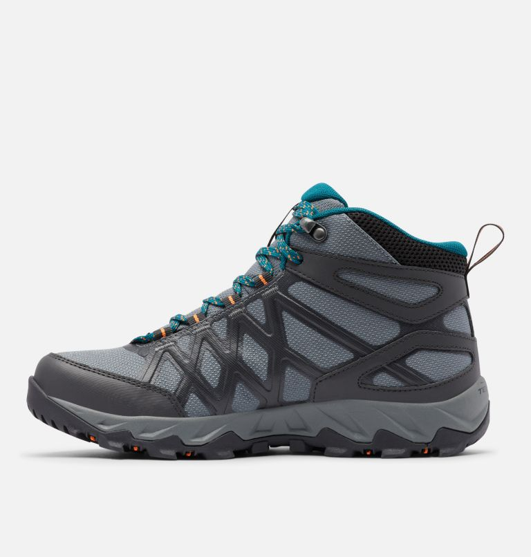 PEAKFREAK™ X2 MID OUTDRY™ | 033 | 10.5 Women's Peakfreak™ X2 Mid OutDry™ Boot, Ti Grey Steel, Deep Wave, medial