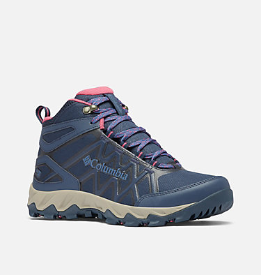 Women's Peakfreak™ X2 Mid OutDry™ Hiking Boot PEAKFREAK™ X2 MID OUTDRY™ | 010 | 5, Collegiate Navy, Dark Fuchsia, 3/4 front