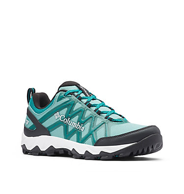Women's Peakfreak™ X2 OutDry™ Hiking Shoe PEAKFREAK™ X2 OUTDRY™ | 608 | 10, Copper Ore, Glacier Green, 3/4 front