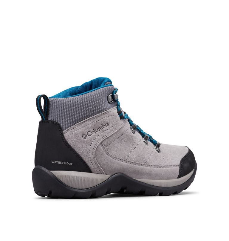 FIRE VENTURE™ S II MID WP | 029 | 9 Women's Fire Venture S II Mid Waterproof Ankle Boot, Ti Titanium, Lagoon, 3/4 back