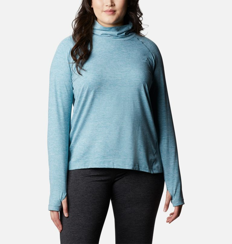 Bryce Canyon™ II Turtleneck | 430 | 2X Women's Bryce Canyon™ II Turtleneck - Plus Size, Canyon Blue Heather, front