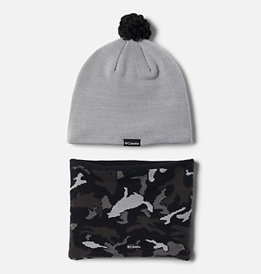 Gorro y cuello Snow More para niños Youth Snow More™ Hat and Gaite | 695 | O/S, Columbia Grey Critter Camo, back